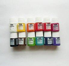 Farby-laky - Farba na textil Pébéo, Setacolor opaque, sada 12x20 ml - 7761127_