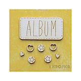 - Výrez Jar prichádza - obdĺžnikový Album + mini kruhy, 8ks - 7759678_