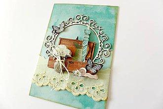 Papiernictvo - pohľadnica modrá - 7759418_