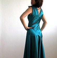 Šaty - smaragdové večerné šaty - 7760460_