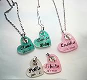 Iné šperky - Živicové osobné prívesky s textom - 7759996_