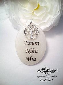 Iné šperky - Živicový osobný prívesok s textom - 7760230_