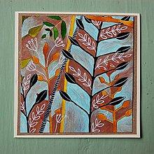 Papiernictvo - pohľadnica rastliny... - 7761502_