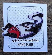 Odznaky/Brošne - jazvec s tortičkou - 7761010_