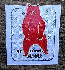 Odznaky/Brošne - červený medveď - 7761043_