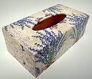 - Box na vreckovky -levanduľa - 7759318_