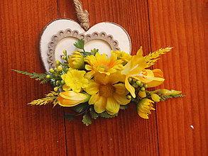 Ozdoby do vlasov - Žltá brošňa alebo sponka - 7760633_