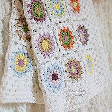 Úžitkový textil - Háčkovaná deka ...