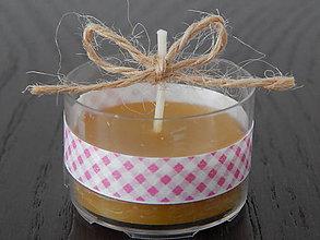 Darčeky pre svadobčanov - Sviečky z včelieho vosku - okrúhle - 7763590_