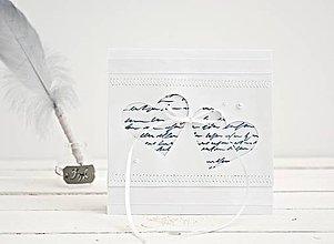 Papiernictvo - Pozdrav svadobný - Srdiečka na písmenkách - 7764432_