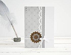 Papiernictvo - Pozdrav štýlový, svadobný -