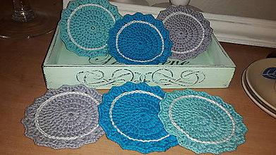 Úžitkový textil - Háčkované  podšálky - 7764859_