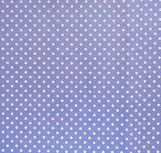 Textil - Filc s potlačou - 20x30 cm, hrúbka 1 mm - bodkovaný, fialový lila - 7764215_