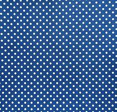 Textil - Filc s potlačou - 20x30 cm, hrúbka 1 mm - bodkovaný, modrý - 7764276_