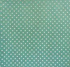 Textil - Filc s potlačou - 20x30 cm, hrúbka 1 mm - bodkovaný, mentolový - 7764712_