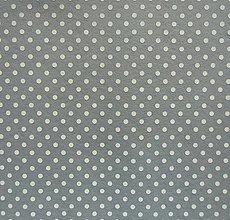 Textil - Filc s potlačou - 20x30 cm, hrúbka 1 mm - bodkovaný, sivý, šedý - 7765858_
