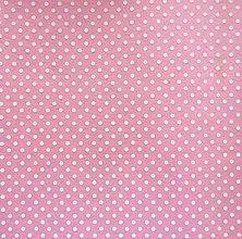 Textil - Filc s potlačou - 20x30 cm, hrúbka 1 mm - bodkovaný, ružový - 7765903_
