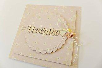 Papiernictvo - pohľadnica k narodeniu dieťatka - 7763273_