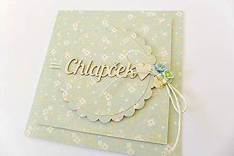 Papiernictvo - pohľadnica k narodeniu dieťatka - 7763284_