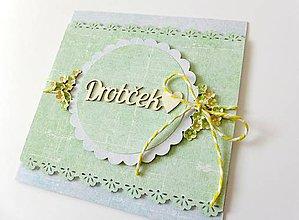 Papiernictvo - pohľadnica k narodeniu dieťatka - 7763337_