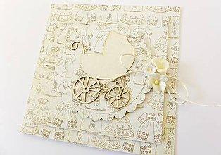 Papiernictvo - pohľadnica k narodeniu dieťatka - 7763338_