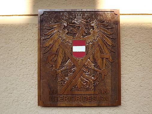 Erb Rakúska s firemným logom
