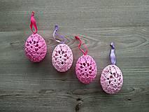Háčkované vajíčka ružové