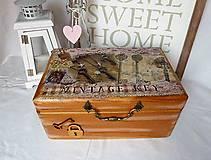 Krabičky - Truhlica Vintage Key - 7766690_