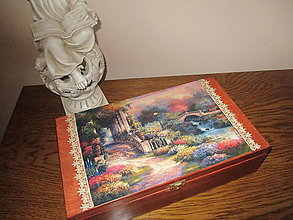 Krabičky - Krabička V romantickej záhrade - 7766667_
