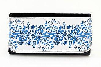 Peňaženky - Peňaženka ornament modrý 36 - 7765193_