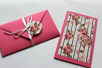 Papiernictvo - Vyšívané pohľadnice - viaceré motívy (svetlo ružová) - 7764151_