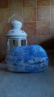 Dekorácie - Kameň zimička II. - 7764166_