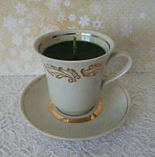 Svietidlá a sviečky - teacup candle / sviečka v šálke - 7763785_