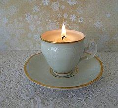 Svietidlá a sviečky - teacup candle / sviečka v šálke - 7763842_