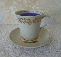 Svietidlá a sviečky - teacup candle / sviečka v šálke - 7764141_