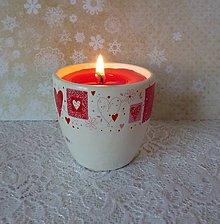 Svietidlá a sviečky - sviečka v keramike - 7765374_