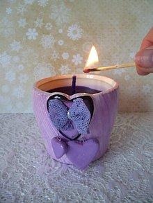 Svietidlá a sviečky - sviečka v keramike - 7765717_