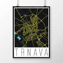 Grafika - TRNAVA, moderná, čierna - 7765035_