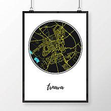 Grafika - TRNAVA, okrúhla, čierna - 7765053_