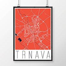 Grafika - TRNAVA, moderná, červená - 7765068_