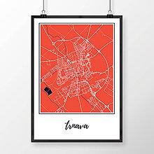 Grafika - TRNAVA, klasická, červená - 7765075_