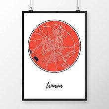 Grafika - TRNAVA, okrúhla, červená - 7765084_