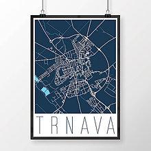 Grafika - TRNAVA, moderná, tmavomodrá - 7765096_