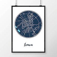 Grafika - TRNAVA, okrúhla, tmavomodrá - 7765110_