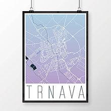 Grafika - TRNAVA, moderná, modro-fialová - 7765152_