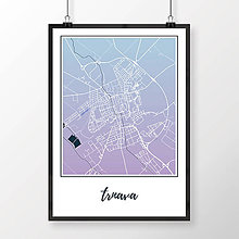 Grafika - TRNAVA, klasická, modro-fialová - 7765163_