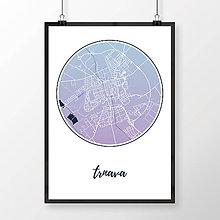Grafika - TRNAVA, okrúhla, modro-fialová - 7765172_