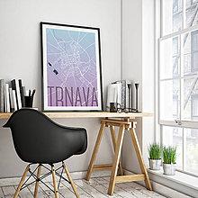 Grafika - TRNAVA, elegantná, modro-fialová - 7765189_
