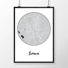 Grafika - TRNAVA, okrúhla, svetlomodrá - 7765222_