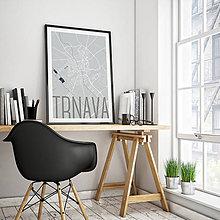 Grafika - TRNAVA, elegantná, svetlomodrá - 7765234_